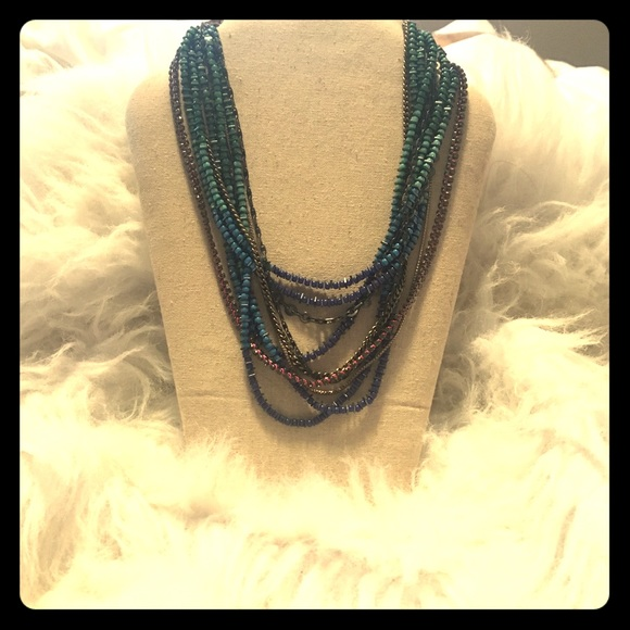 Stella and Dot multi-coloured statement necklace.